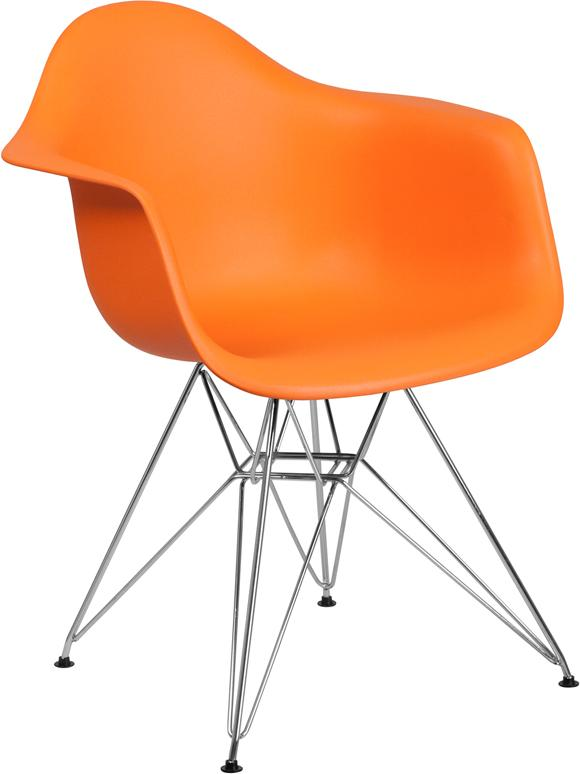 Flash Furniture Alonza Orange Plastic Accent Chairs For Sale Online