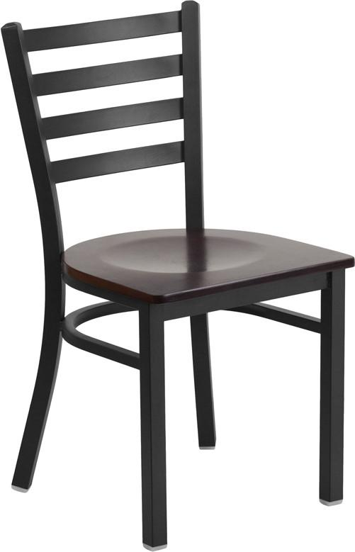 ... Flash Furniture Ladder Back Metal Restaurant Chairs With Wood Seat ...