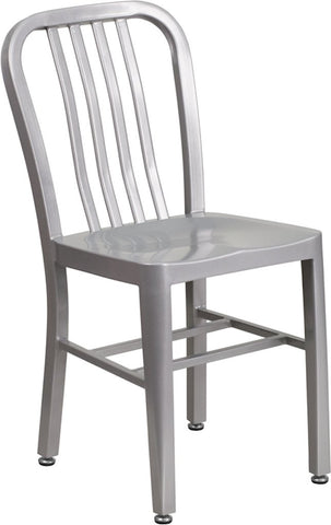 Flash Furniture Silver Metal Chair On Sale Online Furniture Store