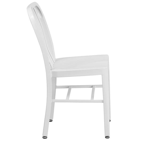 Flash Furniture Metal Chair, White On Sale Best Online Furniture Store