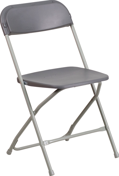 Flash Furniture Hercules Grey Folding Chair 800 lb Capacity