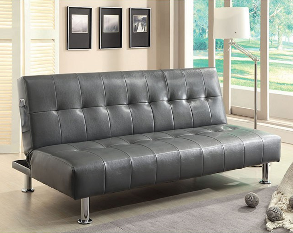 Matching Leatherette Futon Sofa With Armchair For Sale Online