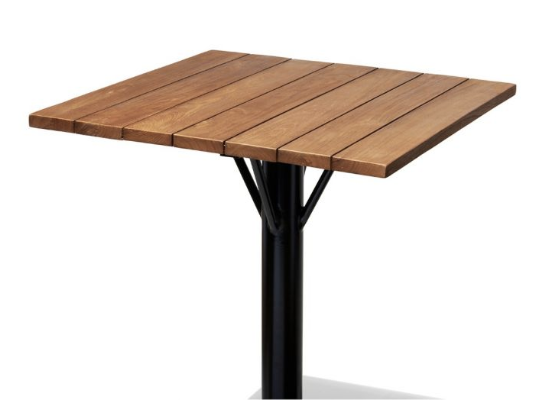 ... Bar Tables | Teak Round Top Square Top With Metal Base ...