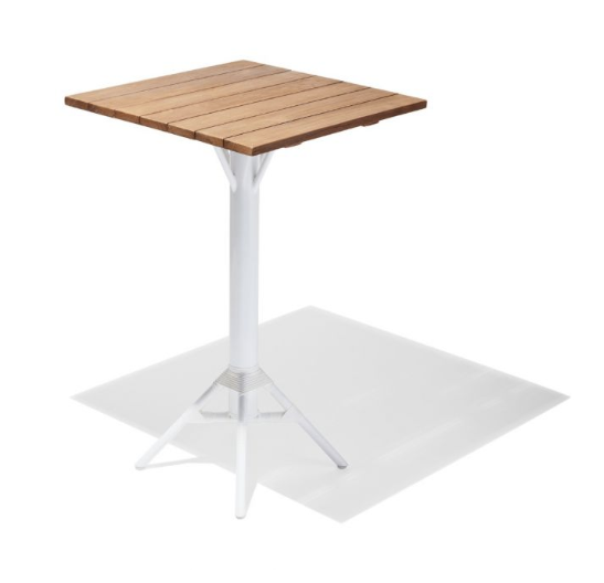 Bar Tables | Teak Round Top Square Top With Metal Base