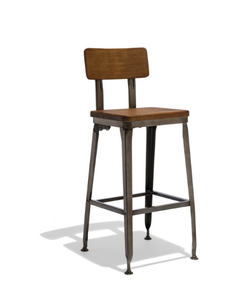 Industrial Solid Wood Bar Stools For Sale Online Furniture Store