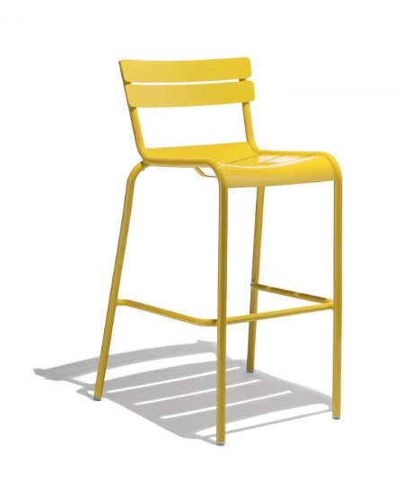 Modern Barstools | Colorful Cafe Style Metal Chairs for Outdoor Living