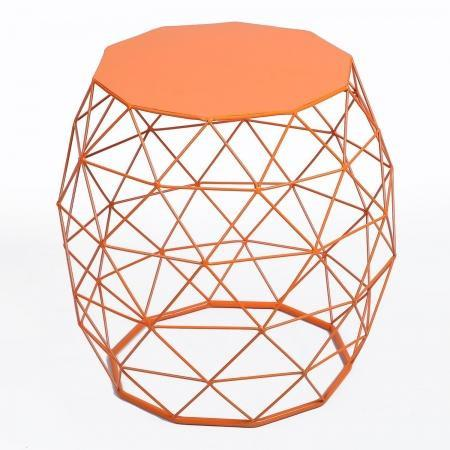 Round End Tables | Bright Colored Triangle Pattern