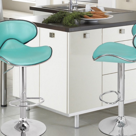 Adjustable Saddleback Modern Bar Stools Set of 2
