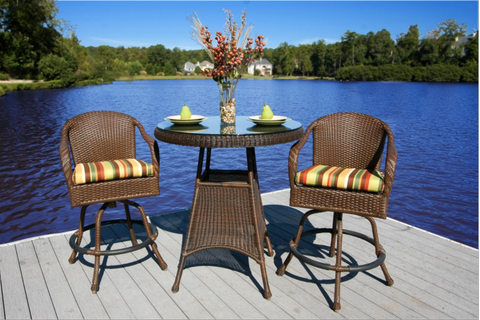 Outdoor Bar Set 3 Piece Wicker Outdoor Furniture Sold Online Store