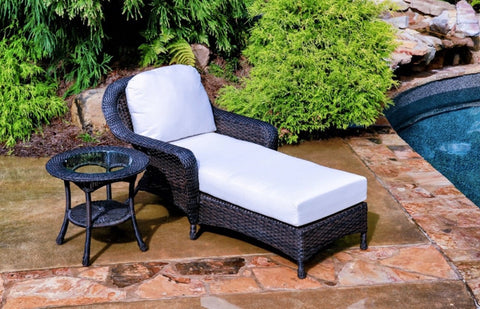 Sea Pines Wicker Outdoor Chaise Lounge Chairs