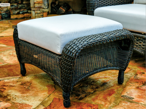 Sea Pines Outdoor Ottoman | Wicker Furniture Online Furniture Store