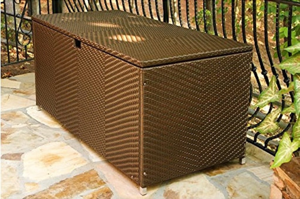 All Weather Resin Wicker Outdoor Storage Boxes Modern Furniture