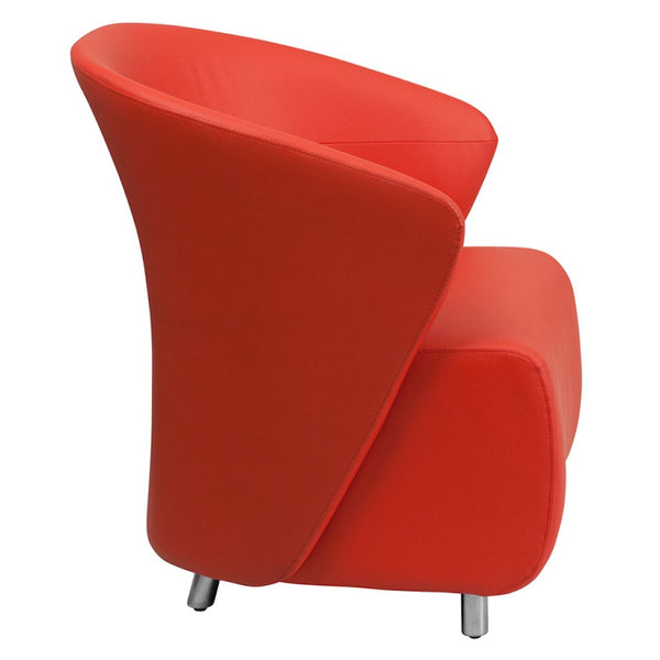 Red Color Arm Chair Modern Lounge Chairs Online Furniture Store Sale