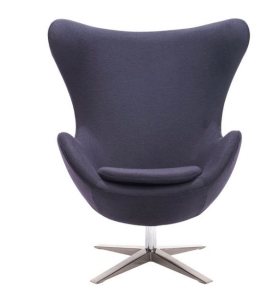 Scoop Seat Iron Gray Mid Century Modern Chair For Sale Online