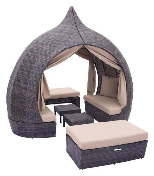 Zuo Modern Majorca Outdoor Daybed With Canopy
