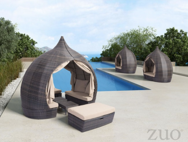 Zuo Modern Majorca Daybed Commercial Outdoor Furniture