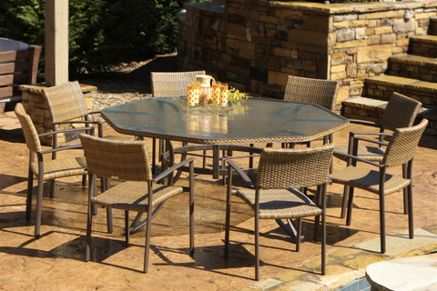 Rustic Outdoor Dining Sets | Tortuga Outdoor Maracay Collection