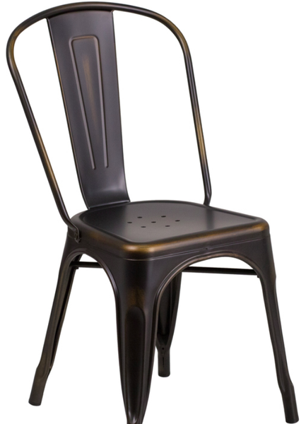 Distressed Copper Metal Bistro Chair For Sale Online Furniture Store