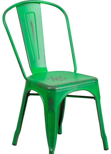 Distressed Green Metal Bistro Chair For Sale Online Furniture Store