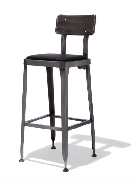 Modern Barstools Leather Metal Base Restaurant Chairs Sold Online