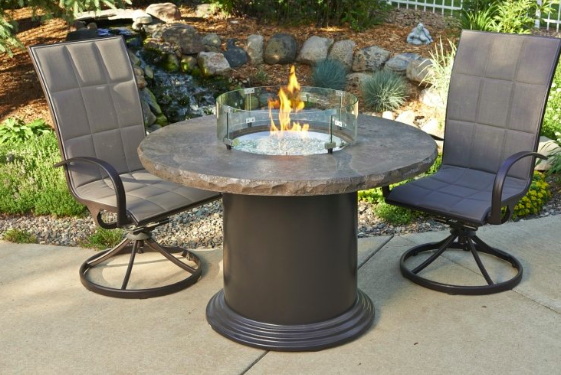 Outdoor GreatRoom Company Brooks Elevated Rectangular Fire Pit Table