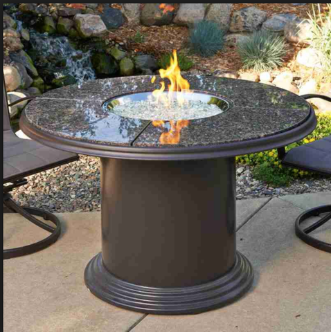 Outdoor GreatRoom Company British Propane Fire Pit Table
