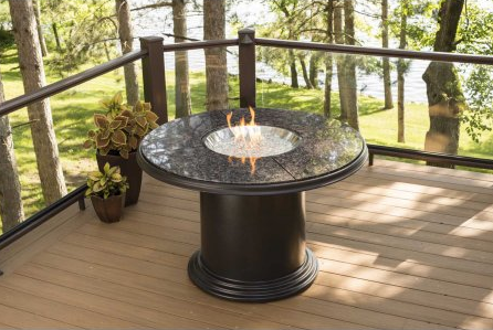 Outdoor GreatRoom Company Grand Colonial Round Fire Pit Table