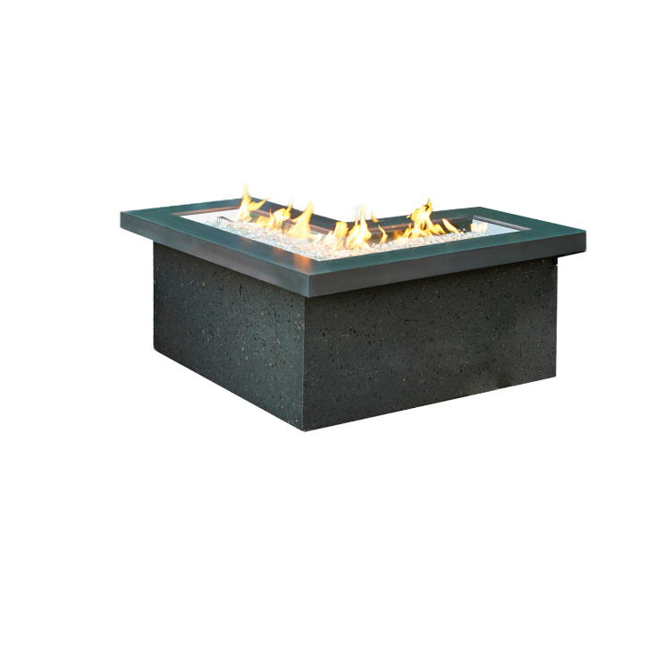 Outdoor GreatRoom Company L-Shaped Propane Fire Pit Table
