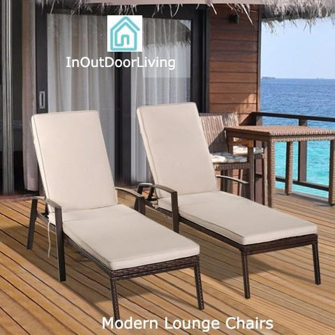 Best Under $300 Set of 2 Adjustable Back Outdoor Chairs For Sale