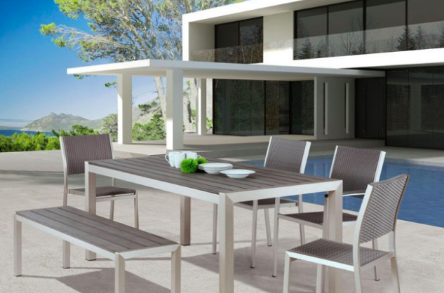 Zuo Modern Contemporary High End Patio Furniture 6 Piece Set