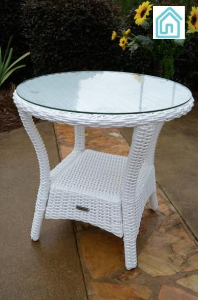 Best White Wicker Furniture Outdoor Side Table