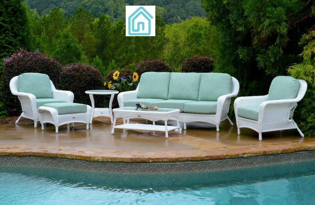 White Outdoor Patio Furniture.Best White Wicker Furniture 6 Piece Outdoor Sofa Sets