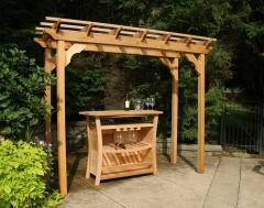 CreekVine Design 4' x 12' Western Red Cedar Wooden Pergola