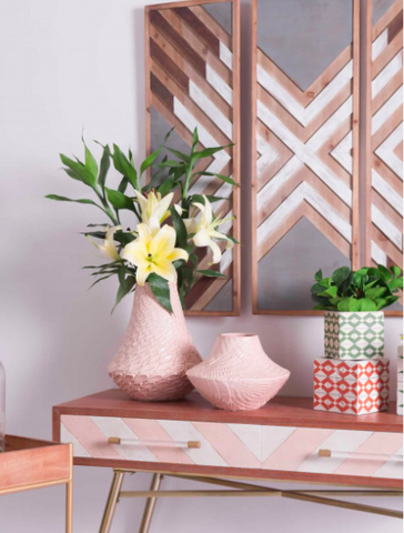 Pretty Pink Ceramic Vases Online Furniture Store