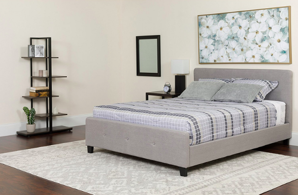 Flash Furniture Tribeca Queen Size Light Grey Platform Bed