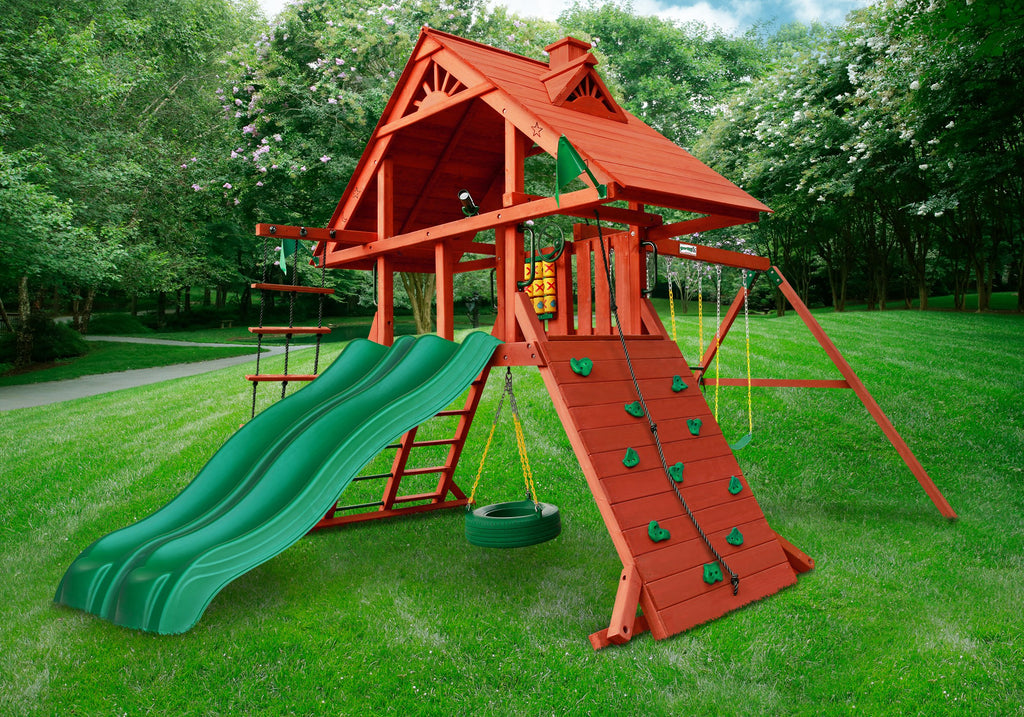 2018 Holiday Sale Gorilla Playsets Sun Palace Extreme Swing Set