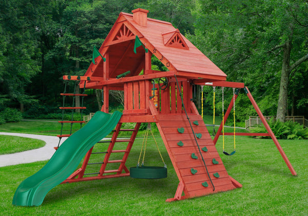 2019 Spring Sale Gorilla Playsets Sun Palace Wooden Swing Set