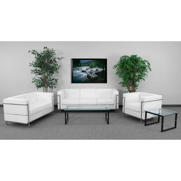 Flash Furniture Hercules Regal Reception Set White Leather