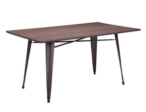 Mid Century Modern Industrial Dining Table