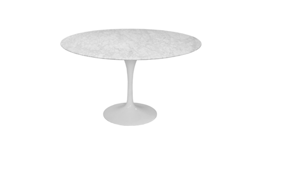 Lily Round Tulip Dining Tables With Marble Top