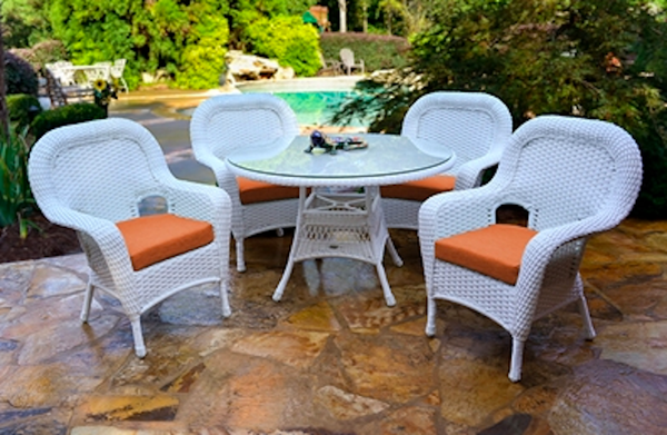 Best Price Tortuga Outdoor Wicker Furniture Sea Pines 5 Piece Dining Set