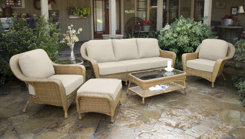 Tortuga Outdoor Sea Pines 6 Piece Mojave Resin Wicker Patio Set