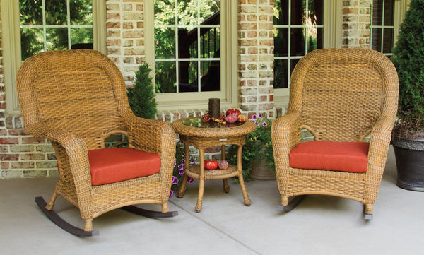 Sea Pines 3 Piece Outdoor Rocking Chair Set