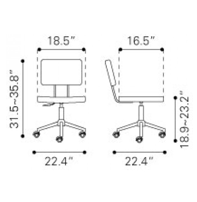 Office Chair Dimensions