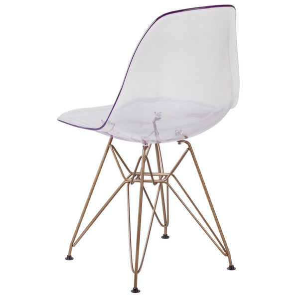 Flash Furniture Ghost Chair | Elon Collection