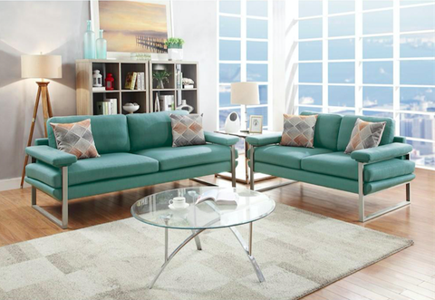 Dark Green 2 Piece Sofa Set