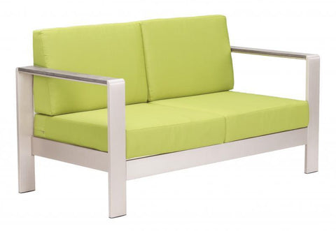 Zuo Modern Cosmopolitan Bright Green Sofa Set