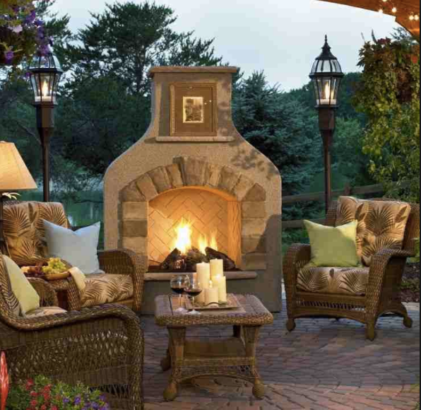 Outdoor Fireplaces | Relaxing Backyard