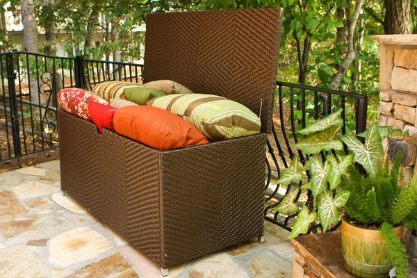 Best Deal Tortuga Outdoor Large Resin Wicker Storage Box