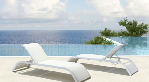 Modern Chaise Lounge Chairs Commercial Outdoor Furniture For Sale